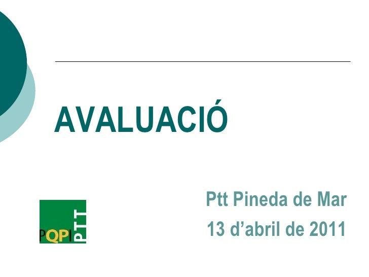 Presentació dia 13 d'abril de 2011