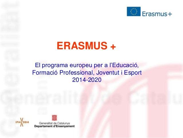 Presentació Erasmus+ als Serveis Territorials