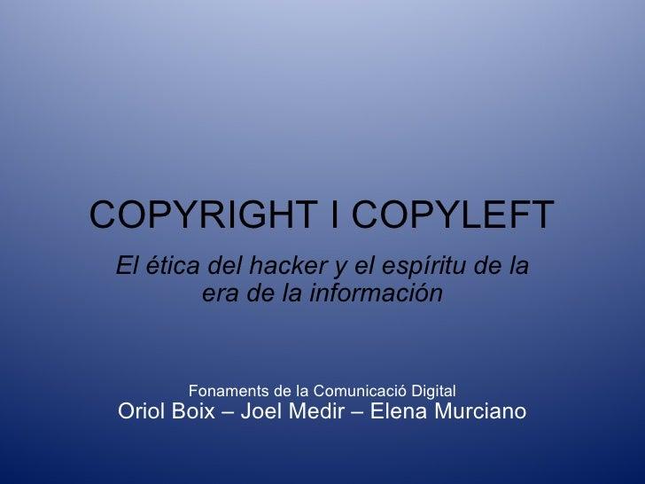 Presentació - Oriol Boix, Joel Medir i Elena Murciano
