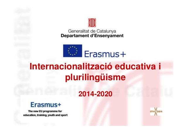 Presentació marc plurilingüe ERASMUS +