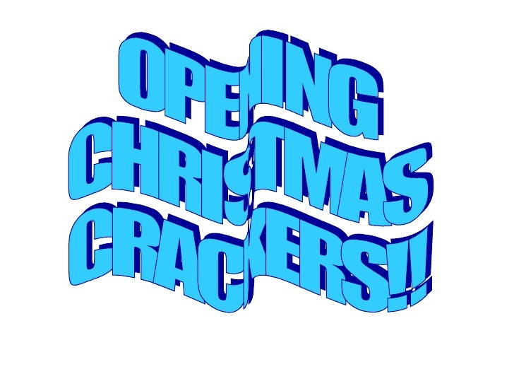 OPENING CHRISTMAS CRACKERS!!