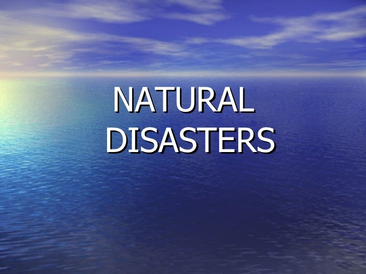 Teaching Unit 'Natural Disasters'