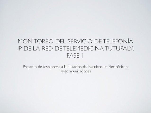 Monitoreo de los servicios de telefonía IP con OpenNMS