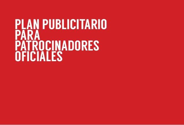 PLAN PUBLICITARIO PARA PATROCINADORES OFICIALES