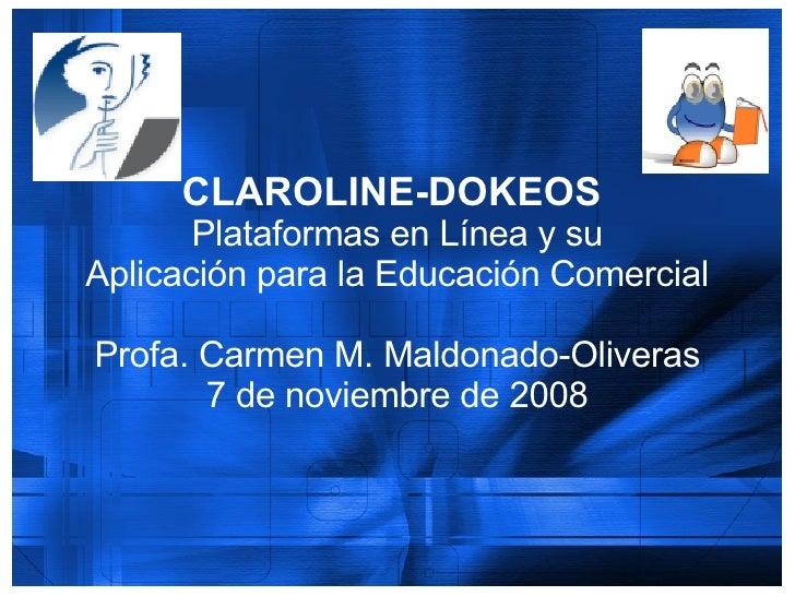 PresentacióN Claroline Dokeos