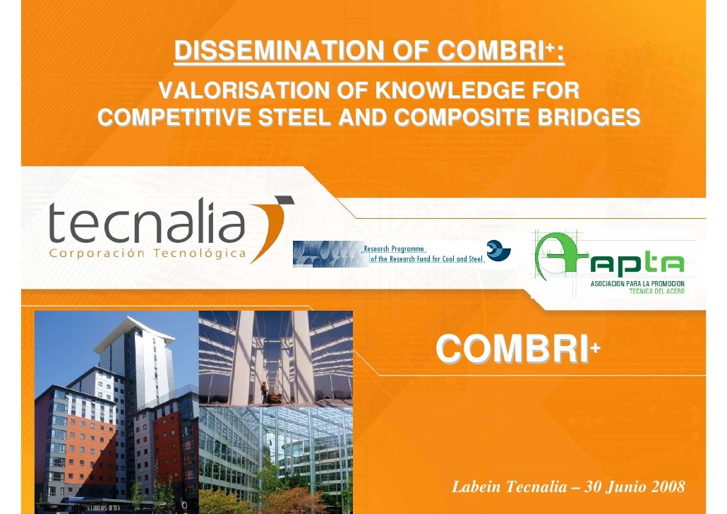 DISSEMINATION OF COMBRI+:     VALORISATION OF KNOWLEDGE FOR COMPETITIVE STEEL AND COMPOSITE BRIDGES                       ...