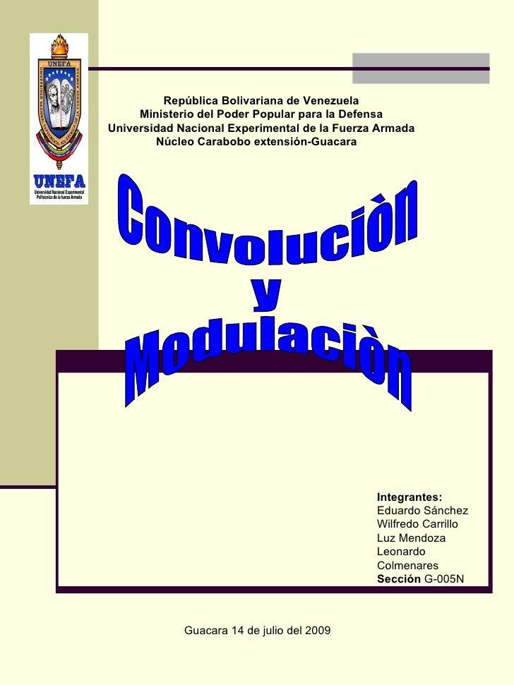 República Bolivariana de Venezuela      Ministerio del Poder Popular para la Defensa Universidad Nacional Experimental de ...