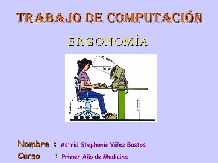 PresentacióN De ComputacióN ErgonomíA
