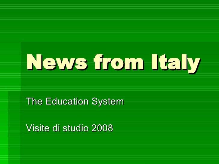 Italian educational system I