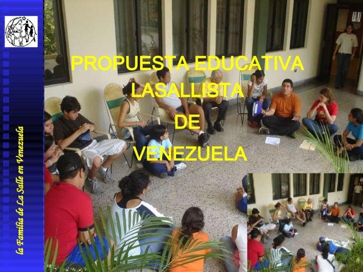 propuesta educativa la salle