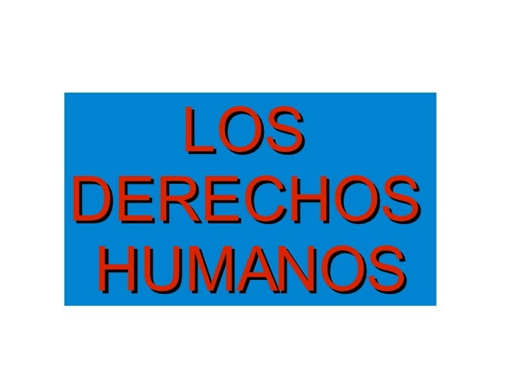 Presentación Derechos Humanos