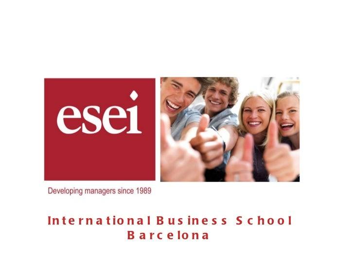 ESEI International Business School Presentation