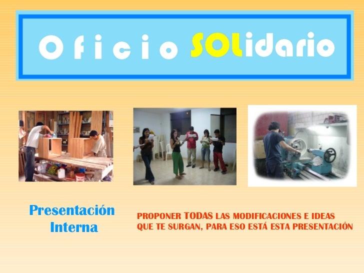 Oficio Solidario