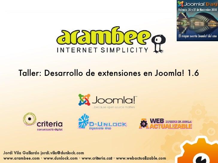 Presentación joomla-day-2010 Jordi Vila