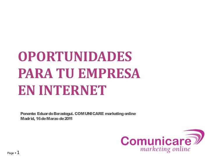 Oportunidades para tu empresa en Internet (Omexpo 2011)