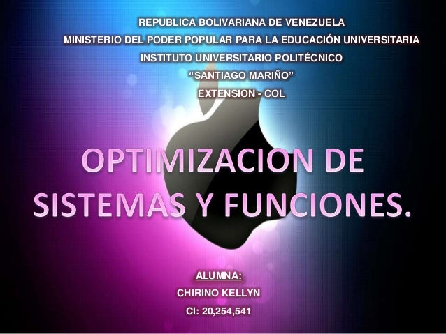REPUBLICA BOLIVARIANA DE VENEZUELAMINISTERIO DEL PODER POPULAR PARA LA EDUCACIÓN UNIVERSITARIAINSTITUTO UNIVERSITARIO POLI...