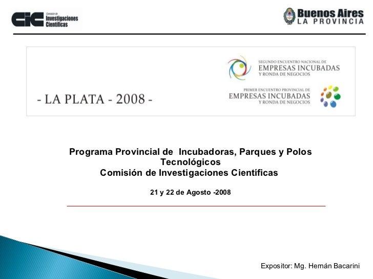 Presentación Programa IPyPt-CIC