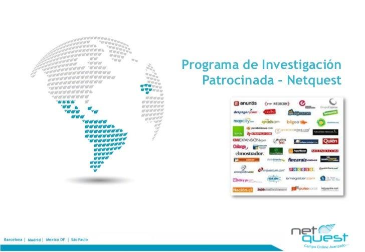 Programa de Investigación   Patrocinada - Netquest