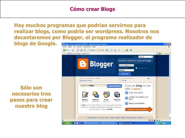 PresentacióN Sobre CóMo Realizar Blogs