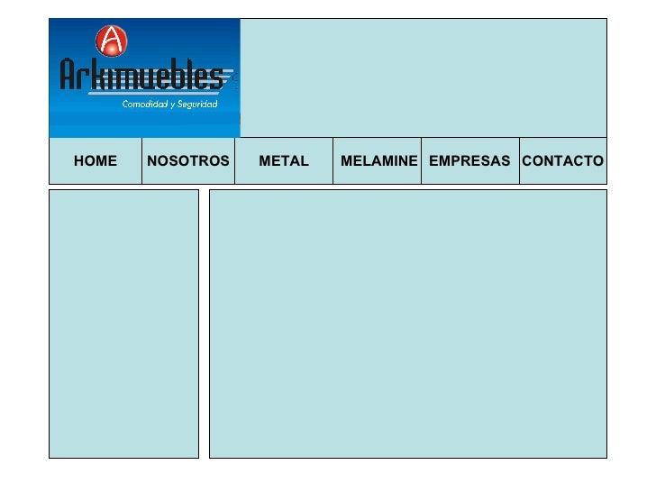 PresentacióN Web Arkimuebles