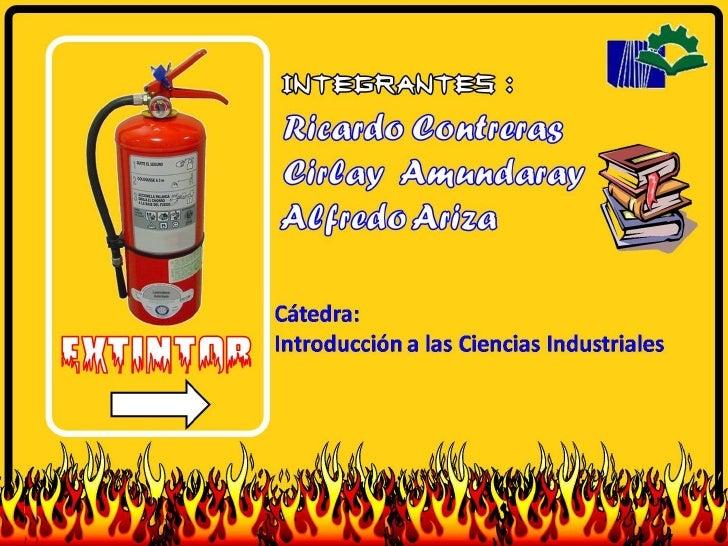 normas de seguridad para el manejo de un extintor