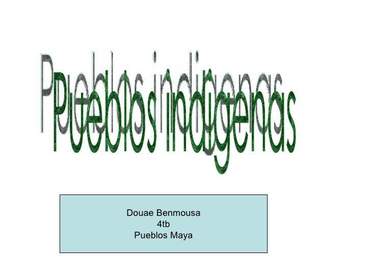 Pueblos indigenas Douae Benmousa 4tb Pueblos Maya