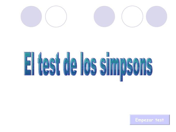 El test de los simpsons Empezar test