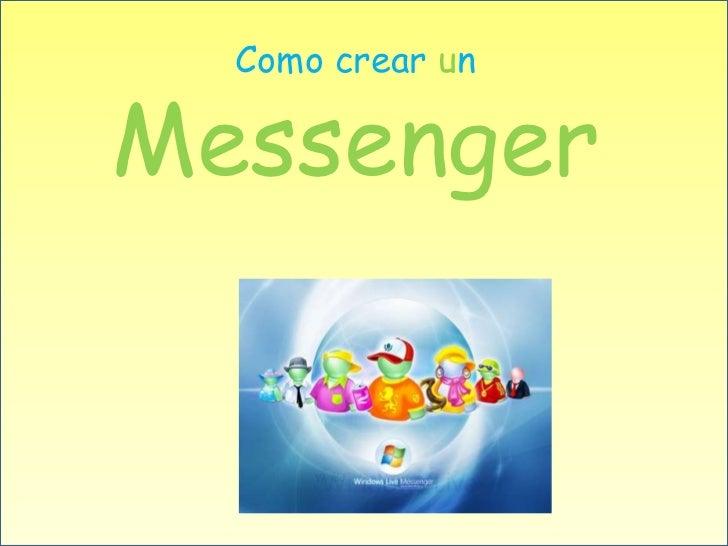 Como crear un  Messenger