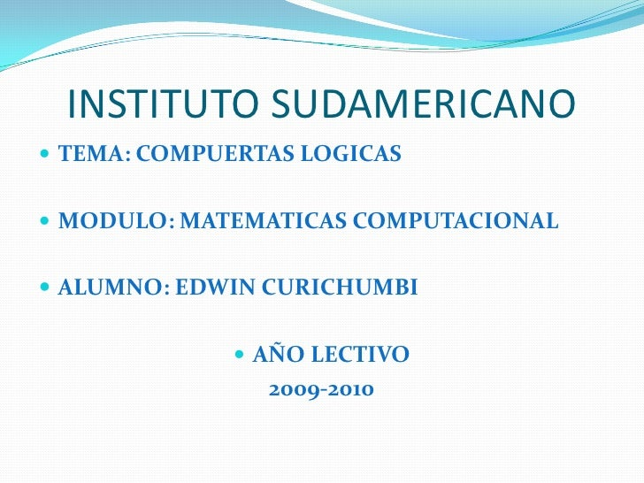 INSTITUTO SUDAMERICANO ED