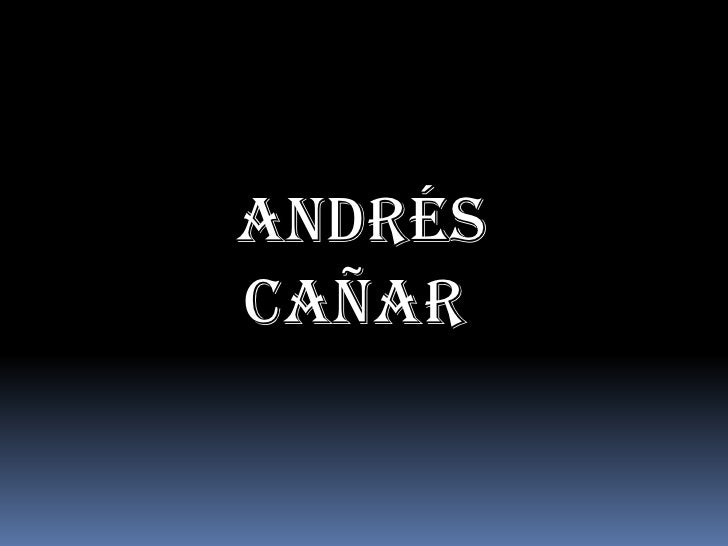 Andrés Cañar<br />