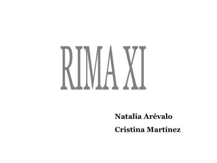 RIMA XI Natalia Arévalo Cristina Martínez