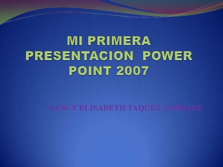 NANCY ELISABETH TAQUEZ ANDRADE