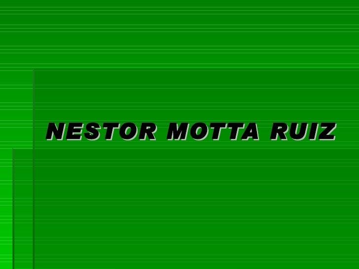 NESTOR MOTTA RUIZ