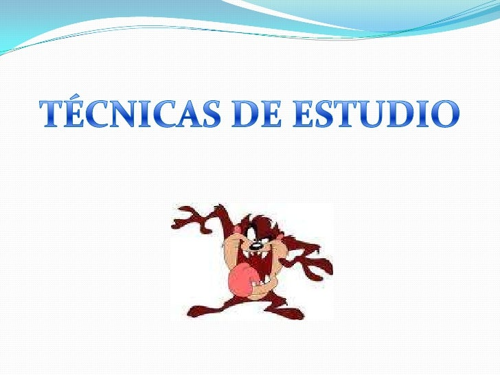 TÉCNICAS DE ESTUDIO<br />