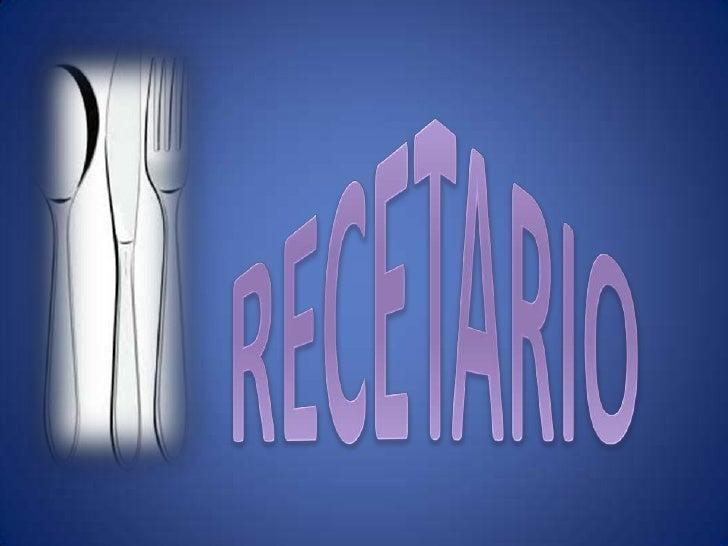 RECETARIO<br />