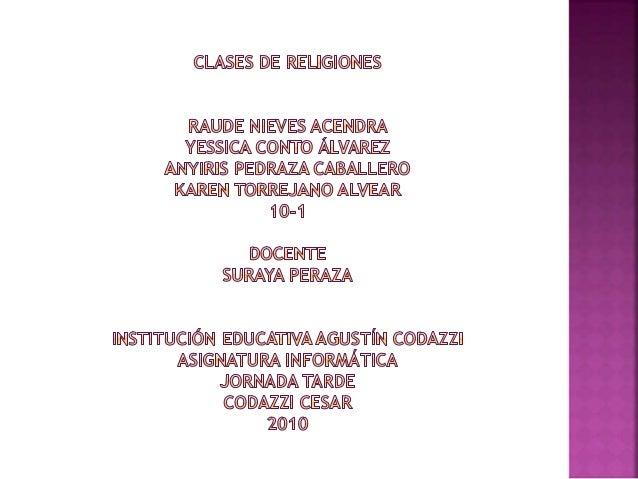 INTRODUCCION 1. JUDAISMO 2. CRISTIANISMO 3. ISLAMISMO 4. HINDUISMO 5. BUDISMO CONCLUSIONES BIBLIOGRAFIA ANEXOS
