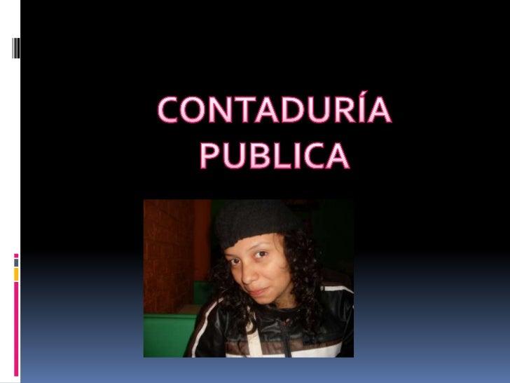 CONTADURÍA PUBLICA<br />