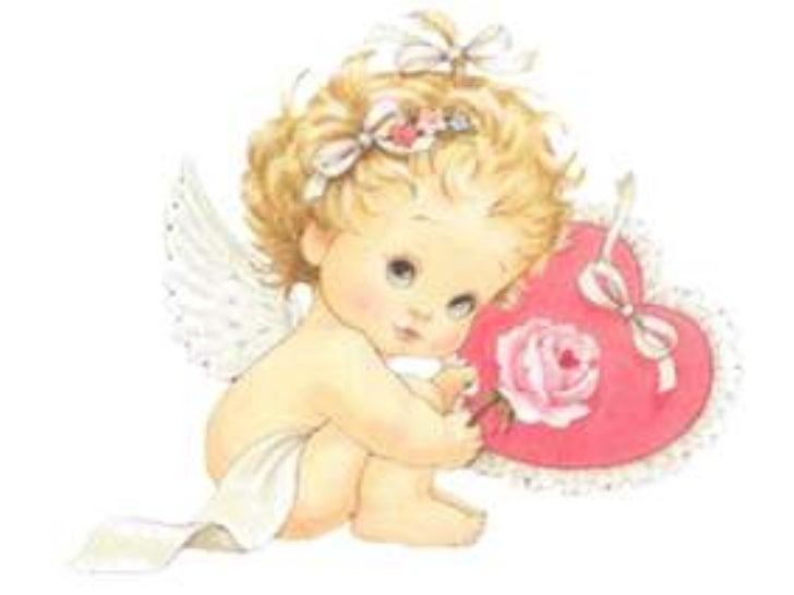 Рисунок ангелочек с подарком 87