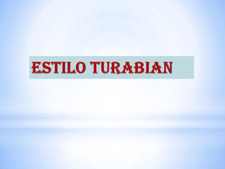 Estilo Turabian<br />