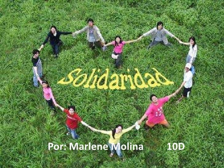 Por: Marlene Molina         10D<br />