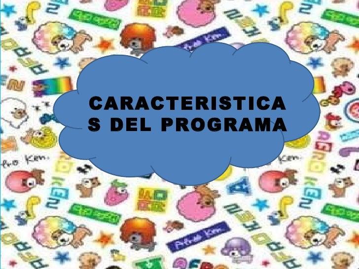 CARACTERISTICAS DEL PROGRAMA