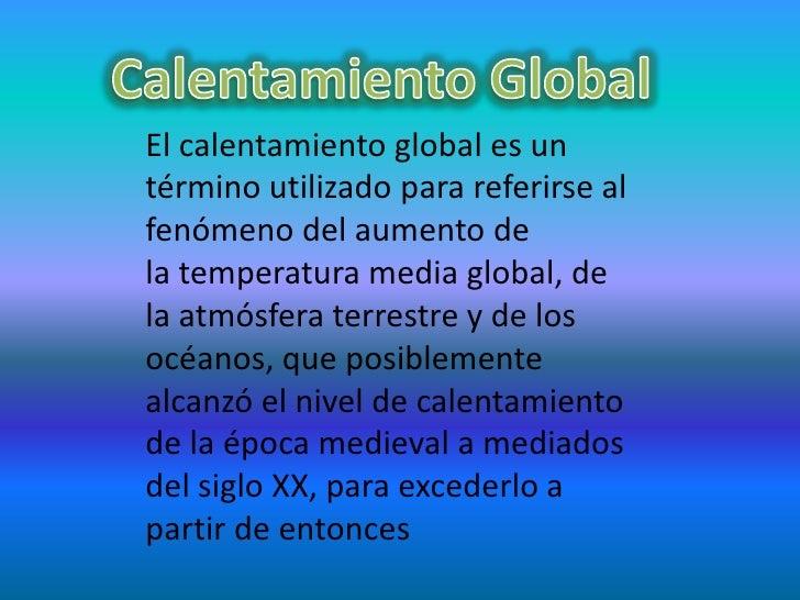 Calenamiento Global