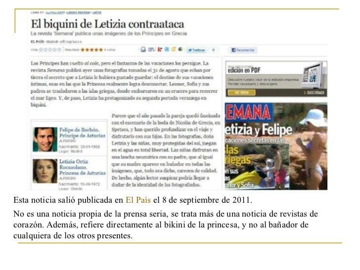 Esta noticia salió publicada en  El País  el 8 de septiembre de 2011. No es una noticia propia de la prensa seria, se trat...