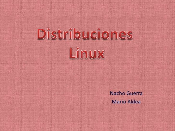 Nacho Guerra Mario Aldea