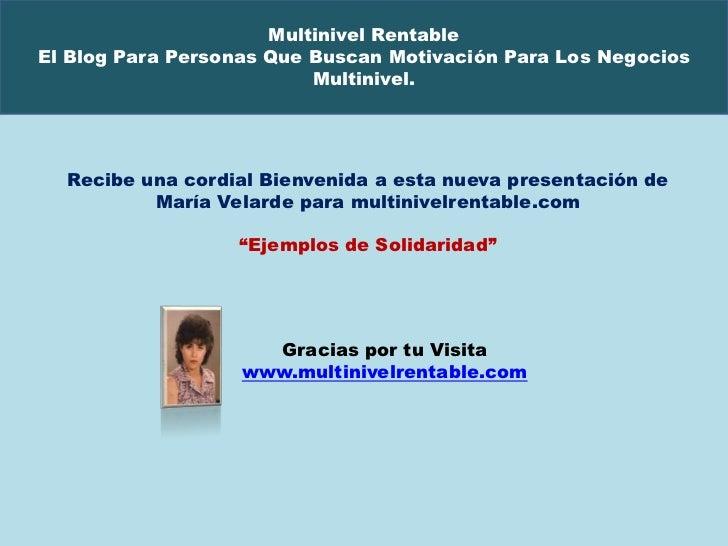 Multinivel RentableEl Blog Para Personas Que Buscan Motivación Para Los Negocios                          Multinivel.  Rec...