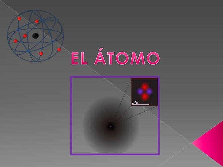 """En química y física, átomo (del latín atomum , sinpartes; también, se deriva de """"a"""" no, y """"tomo""""divisible; no divisible.Es..."""
