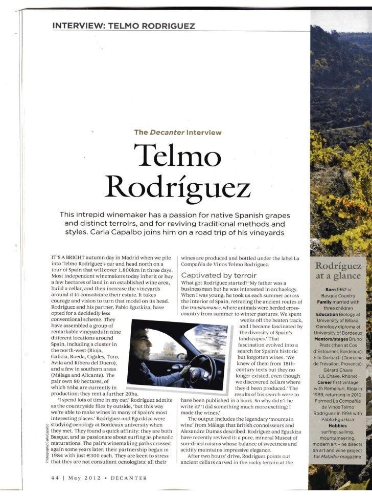 Valentín y Telmo Rodríguez en Decanter