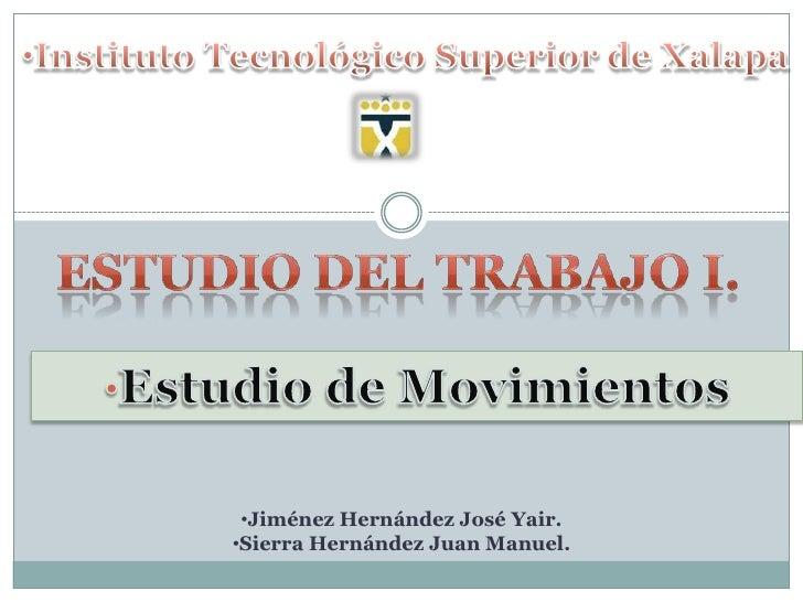 ESTUDIO DE MOVIMIENTOS
