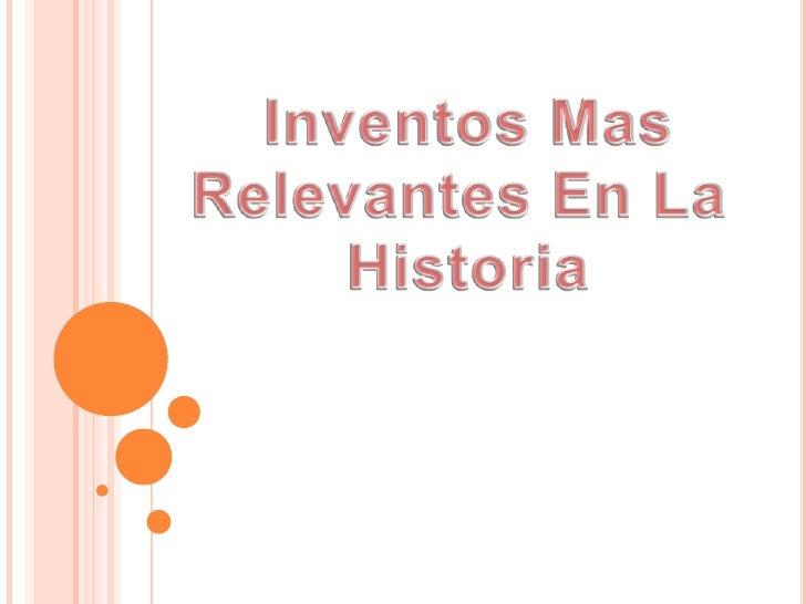 inventos que marcaron historia