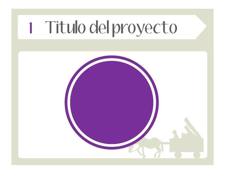 1 Titulo del proyecto